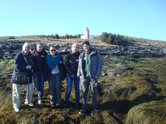 GAEL Tours: A happy tour group at Point Prim