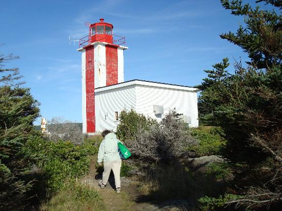 GAEL Tours: Hiking at Point Prim at the edge of the Bay of Fundy