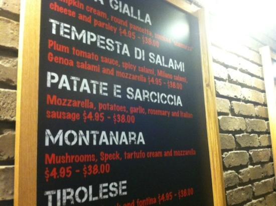 Pizzarium: Menu is really different