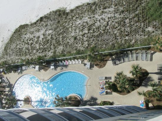 Aqua: view of part of the pool from our room
