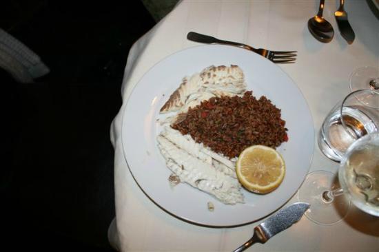 Les Arcenaulx : Daurade du jour, riz sauvage aux petits légumes