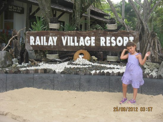 Railay Village Resort: next to reception (on the beach)