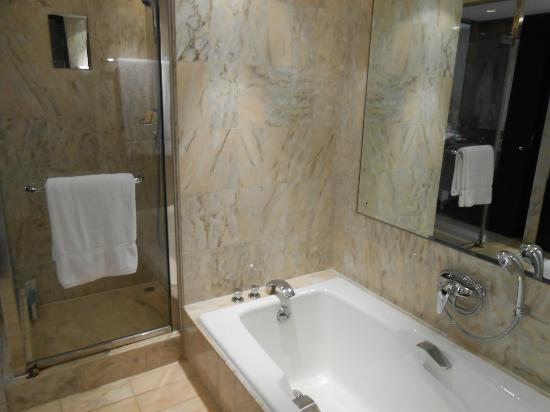 InterContinental Hong Kong: The Beautiful Marble Bathroom With The Sunken  Bath