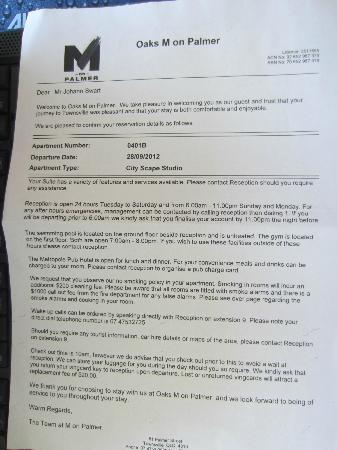Oaks M on Palmer: Other Side of Note about Fire Alarms and $1050.00 Fines