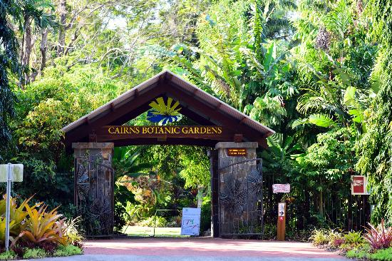 Cairns Botanical Gardens: entrance to the gardens