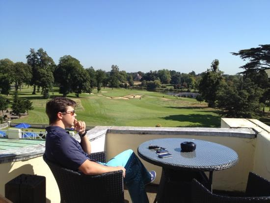 Stoke Park Country Club, Spa and Hotel: view from our balcony