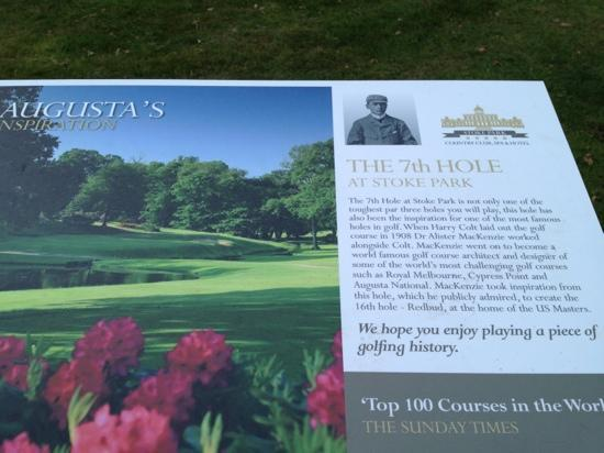 Stoke Park Country Club, Spa and Hotel: famous 7th hole