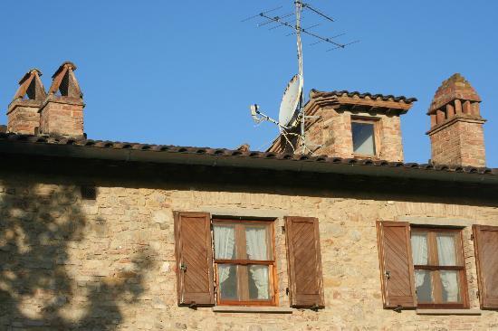 Le Rote: Herrliche Kamine am Dach
