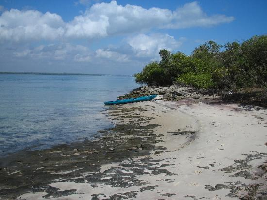 Lazy Lagoon: Exploring the island with one of the available kayaks