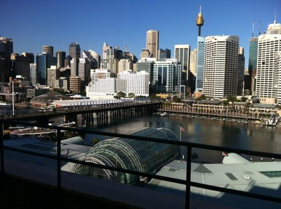Novotel Sydney on Darling Harbour: the view from our room - Harbour view