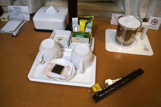 Hotel New Ueno: Free tea and coffee