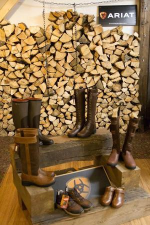 The Priory: Bowland Boot Display