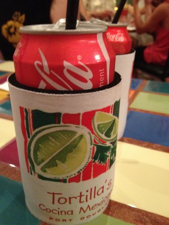Tortillas Cocina Mexicana: all sodas come in stubby holder