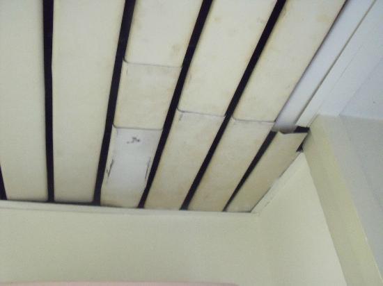 Hotel King, Rome: bathroom ceiling