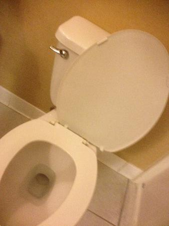 Comfort Suites Airport: Toilet seat cover broken