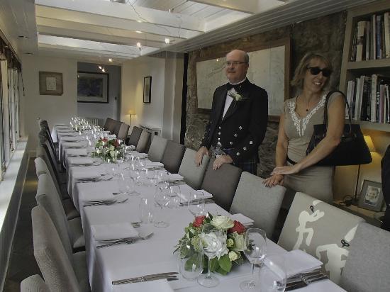 Monachyle Mhor: Wedding banquet
