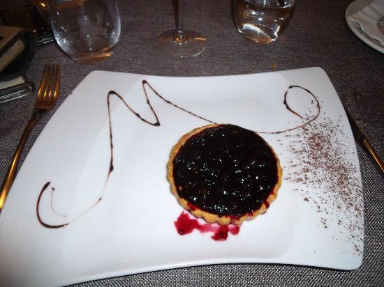 Hotel les Marronniers : la très bonne tarte aux myrtilles