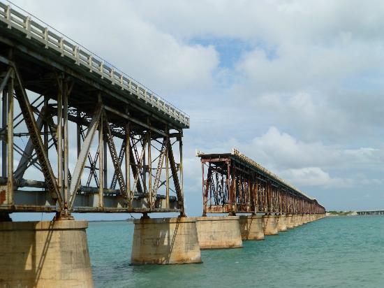 Bahia Honda State Park and Beach: alte Brücke am Bahia Honda State Park
