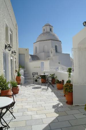 Archontiko Santorini: Terrasse
