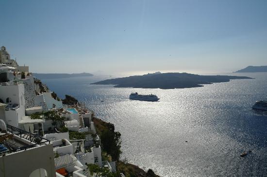 Archontiko Santorini: Blick auf den Vulkan