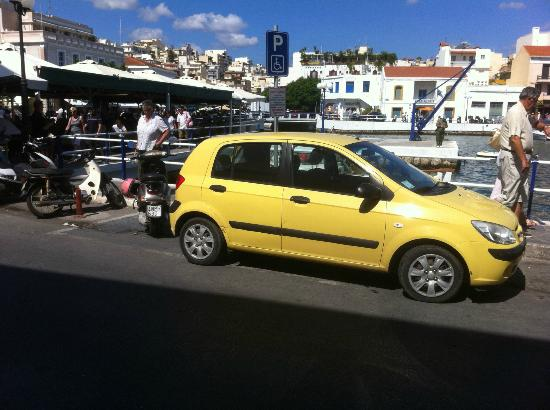 "Golden Bay Hotel: ""The Yellow Peril"" (Need to be seen by the Cretan Drivers) in Agios Nickolias"