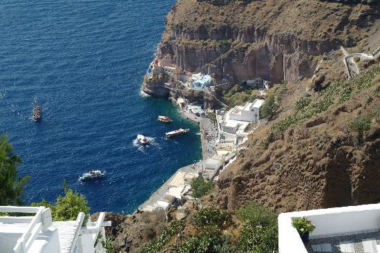Archontiko Santorini: Blick auf den alten Hafen