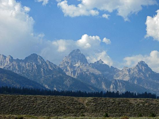 Laurance Rockefeller Preserve: Teton range view from LSR Preserve