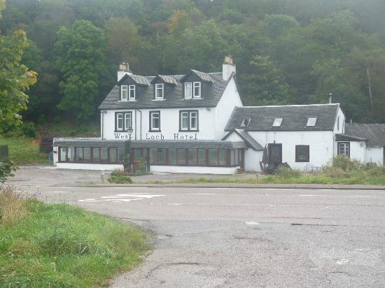 West Loch Hotel: view from the loch
