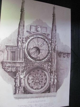Old Town Hall With Astronomical Clock A Drawing Of The Inside Tower