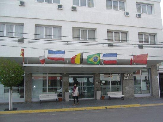 Hotel Tolosa: frente del hotel