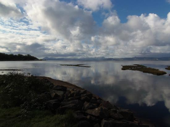 Applecross Campsite: View across to Skye from the bay