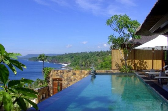 Seraya, Indonesia: Private pool with a view