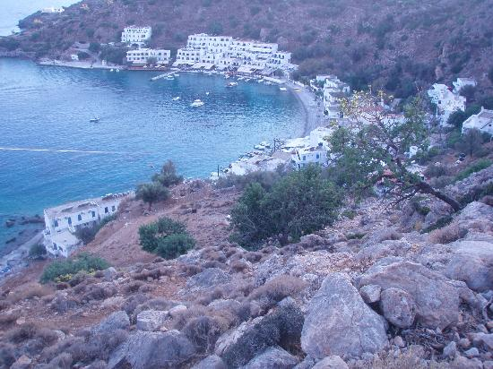 Sifis Hotel & Cafe Bistro: Vy över Loutro