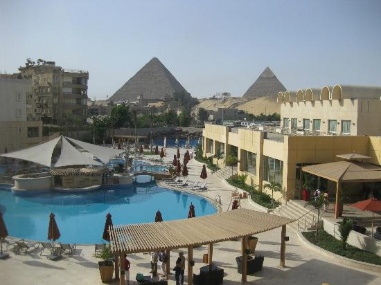 "Le Meridien Pyramids Hotel & Spa: view from ""deluxe pyramids view"" room"
