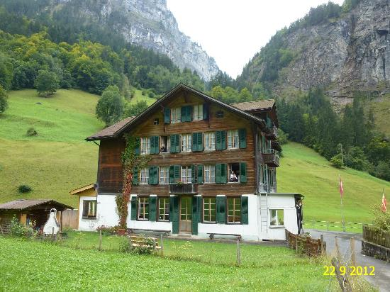 The Alpenhof: OUTSIDE VIEW OF ALPENHOF BED & BREAKFAST HOTEL IN SEPTEMBER 2012.