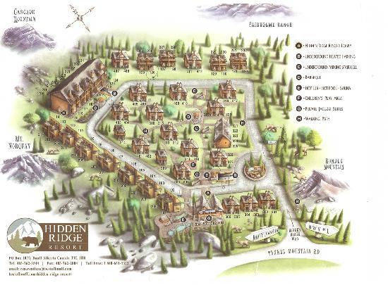 Hidden Ridge Resort: La piantina della struttura
