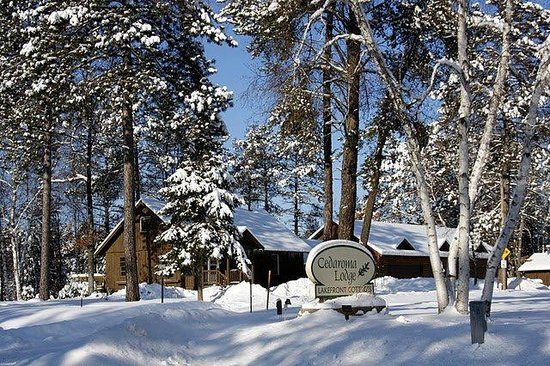 Cedaroma Lodge : Winter wonders abound, and this year we have cabins open for the snowmobile season!