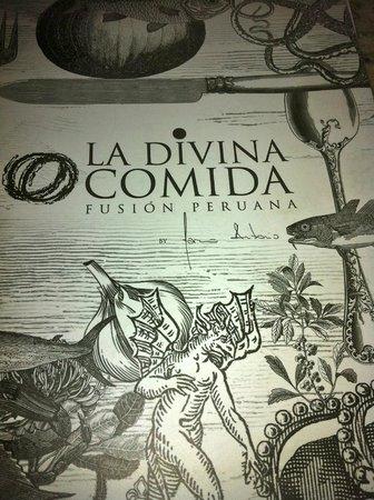 La Divina Comida : Menu Cover