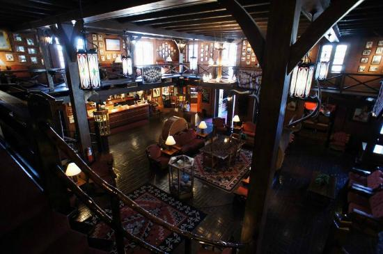 El Rancho Hotel & Motel: The lobby. Real western charm.