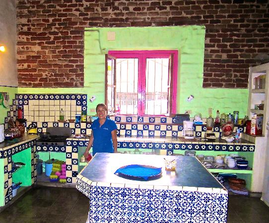 El Angel Azul Hacienda: La signora muy sympatico that cooked a lovely breakfast for us each morning