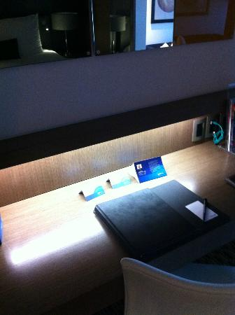 Radisson Blu Gautrain Hotel: Tiny writing desk with terrible lighting (try it with a laptop!)