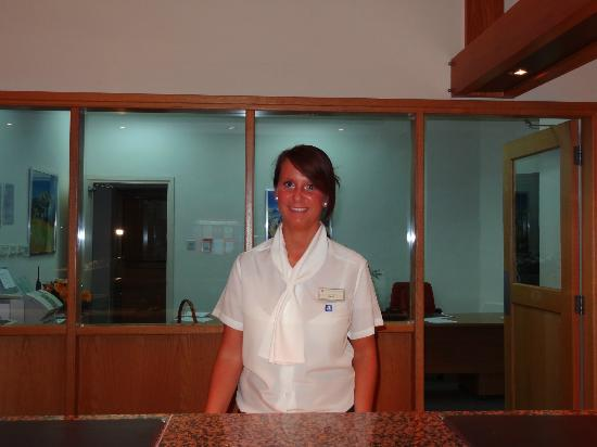 Constantinou Bros Athena Royal Beach Hotel: The lovely receptionist Sarah