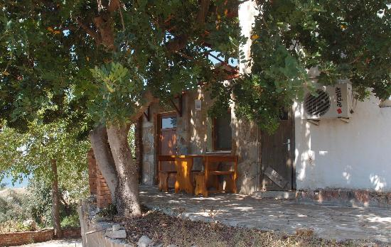 Selene's Pension: Our room from the outside
