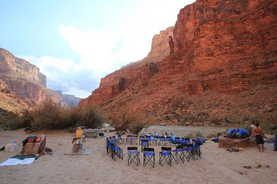 Grand Canyon Whitewater: First night camp