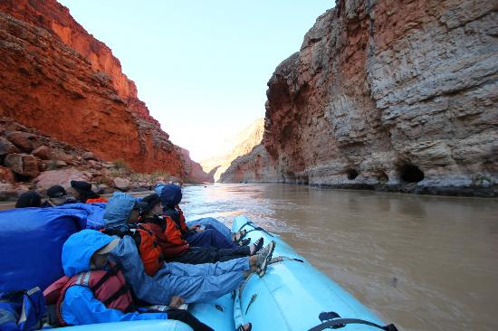 Grand Canyon Whitewater: Second day on the river. Gets cold when you're wet in the shade!