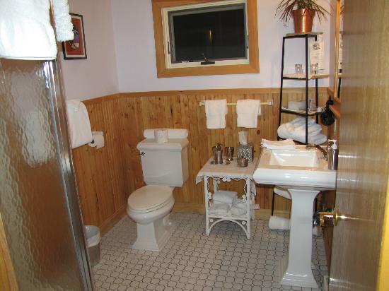 Poplar Creek Guesthouse B&B and Lake Cabin: Bathroom in Little Ollie room