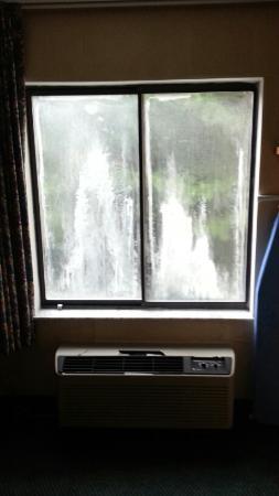 Sleep Inn Airport: My dirty window -- just plain dingy...