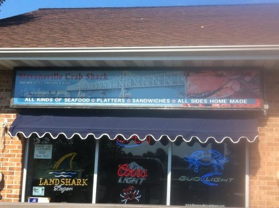Stevensville Crab Shack: front of the store