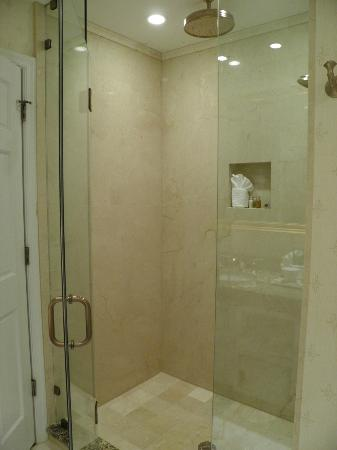 ‪ذا جيفيرسون هوتل: Junior Suite (huge!) shower (in addition to jetted tub.) Features ceiling rain shower head