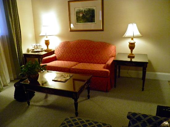 "The Jefferson Hotel: Junior Suite sitting area (the suite was much more spacious than expected for a ""junior"")"